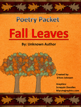 Fall Leaves for Poetry Station
