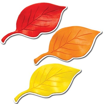 graphic relating to Printable Fall Decorations called Drop Leaves within just Clay - Printable Lower-Out Decor