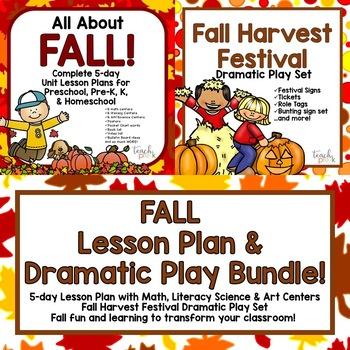 Fall Lesson Plan & Harvest Festival Dramatic Play Bundle