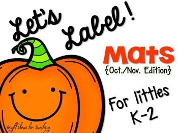 Fall: Let's Label Mats {Oct./Nov.}