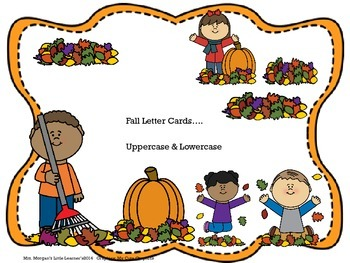 Fall Letter Cards....Uppercase & Lowercase