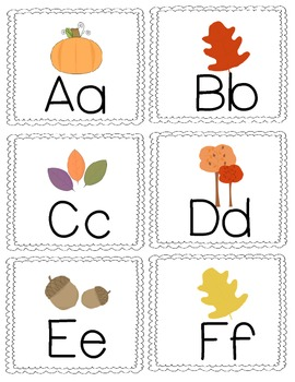Fall Letter Game