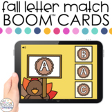 Fall Letter Match Boom™ Cards - Distance Learning for Spec