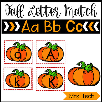 Fall Letter Match (Upper and Lower Case Letters)