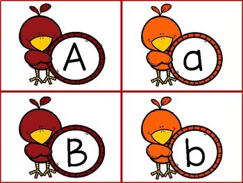Fall Alphabet Match and Beginning Sounds Activity