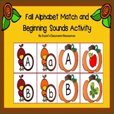 Fall Letter Match and Beginning Sounds Activity.
