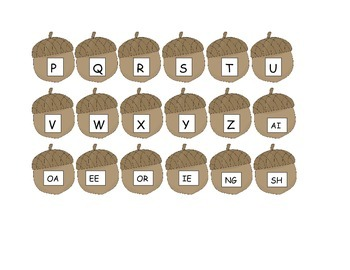 Fall Letter Match and Sight Words