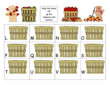 Fall Letter Match (uppercase/lowercase)