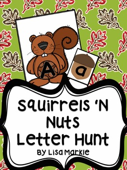 Fall Letter Matching Activity for Preschool