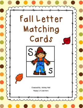 Fall Letter Matching Cards