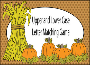Fall Letter Matching Game