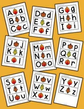 Fall Letter Matching - Set of 26