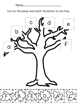 Fall Letter Matching: uppercase to lowercase
