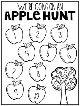 Fall Letter & Number Hunt FREEBIE
