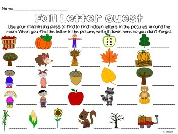 Fall Letter Quest