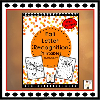 Fall Letter Recognition Printables - Sample