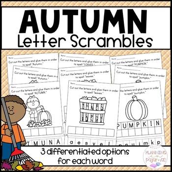 Fall Letter Scrambles
