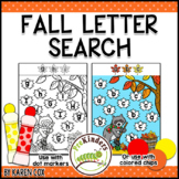 Fall Letter Search | Preschool, Pre-K, Kindergarten