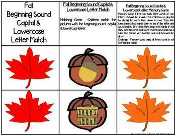 Fall Letter & Sound Match