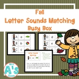 Fall Letter Sounds Matching Busy Box