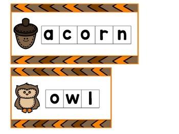 Fall Letter Tile Cards