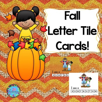 Fall Letter Tile Cards! Great for ESL too!