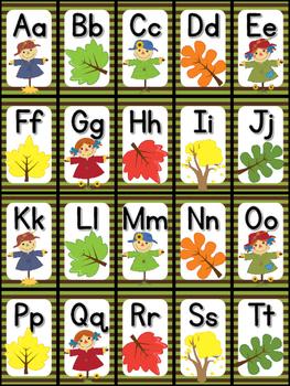 Fall Letter Bingo Sample