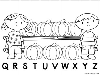 Fall Letter and Number Puzzles