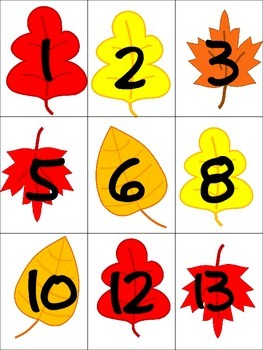 Fall Letter and Number Sort