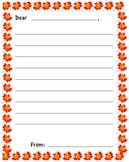 Fall Letter/Thanksgiving Thank You Letter
