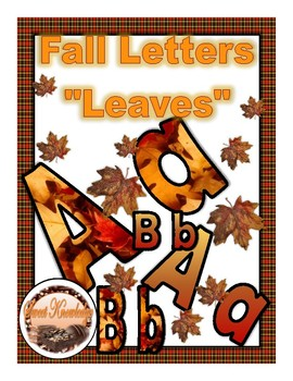 "Fall Letters ""Leaves"""