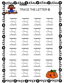 Fall Letters and Numbers With Lines And Circles