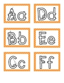 Fall Letters with Polka Dot Border - Word Wall