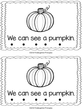 Fall Leveled Literacy Pack - Emergent Readers for Levels A, B, & C