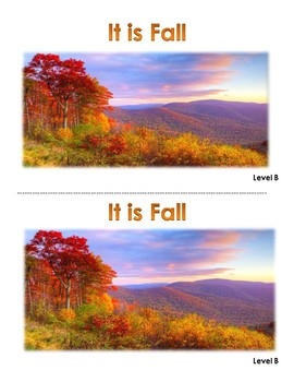 Fall Levelled Reader Books (A through D)