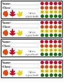 Library Fall Theme Punch Cards