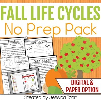 Fall Life Cycles- Covers Apple Life Cycle and Pumpkin Life Cycle