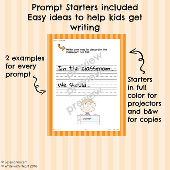 Fall List and Prompts (Primary Edition)