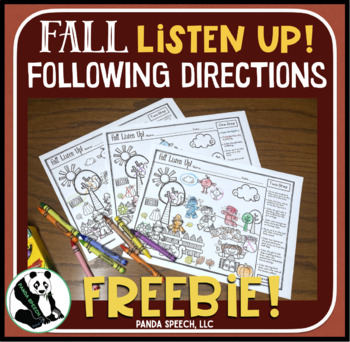 Fall Listen Up! Following Directions FREEBIE