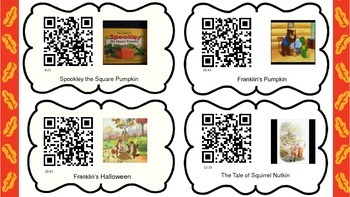 Listening Center with QR Codes For Fall