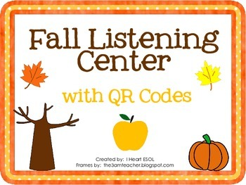 Fall Listening Center with QR Codes- 20 Fall Stories