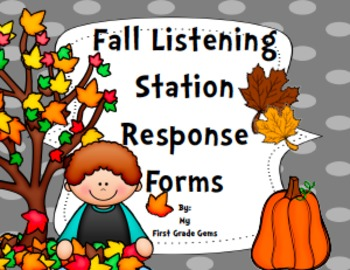 Fall Listening Station Response Sheets - Freebie!