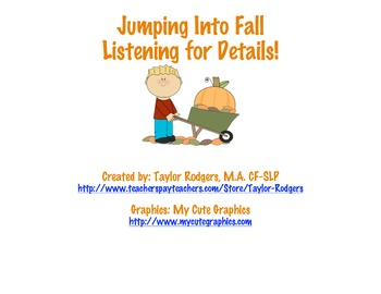 Fall Listening for Details