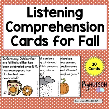Fall Listening Comprehension Cards