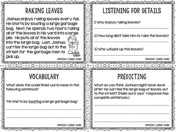 Fall Listening for Details, Vocabulary, and Predicting