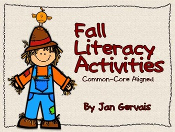 Fall Literacy Activities Common-Core Aligned