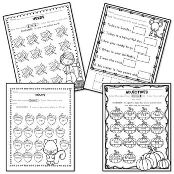 Fall Activities - Literacy