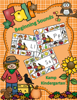 Fall Literacy Activities Scarecrow Beginning Consonant Sounds