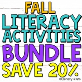 Fall Literacy Bundle for Third Graders Save 30%!