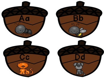 Fall Activities - Matching Uppercase and Lowercase, Letter Sounds